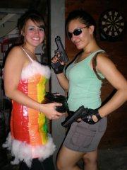 Rainbow meets Lara Croft!