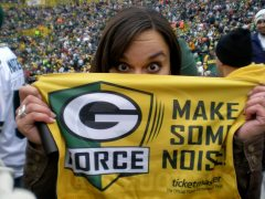 Went to my first Packer game! They won, of course.