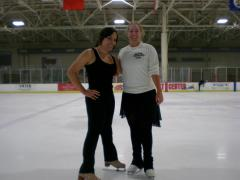 Skated with my Canadian pen pal—she's a World Silver Medalist too, no big.